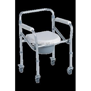 Кресло-туалет на 4 колесах складное CA615