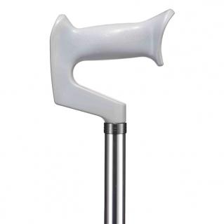 Трость с контурной рукояткой WR-415, цвет серебро
